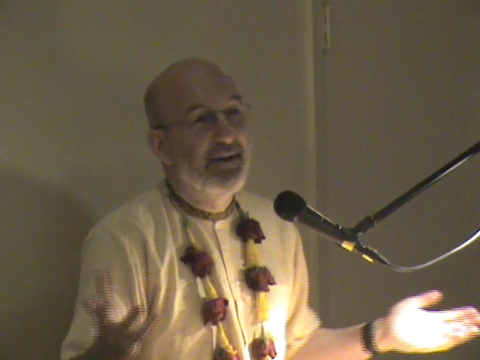Srila Dhanurdhara Swami speaks at The Bhakti Center